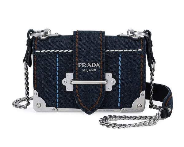 Prada Cahier Small Denim