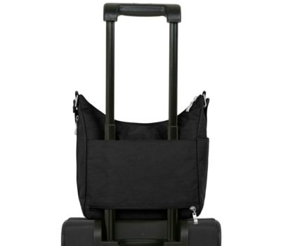 Le sac eveywhere Baggallini s'adapte sur votre valise cabine
