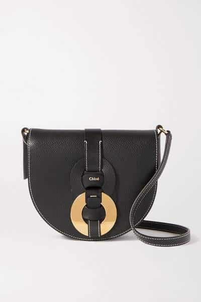 Petit sac à bandoulière en cuir texturé Chloé Darryl
