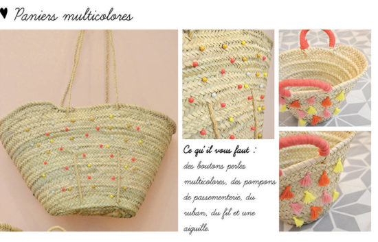 diy panier osier customises