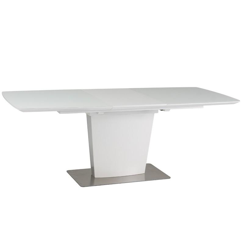 table pliante felipe en mdf et verre trempe 8 personnes