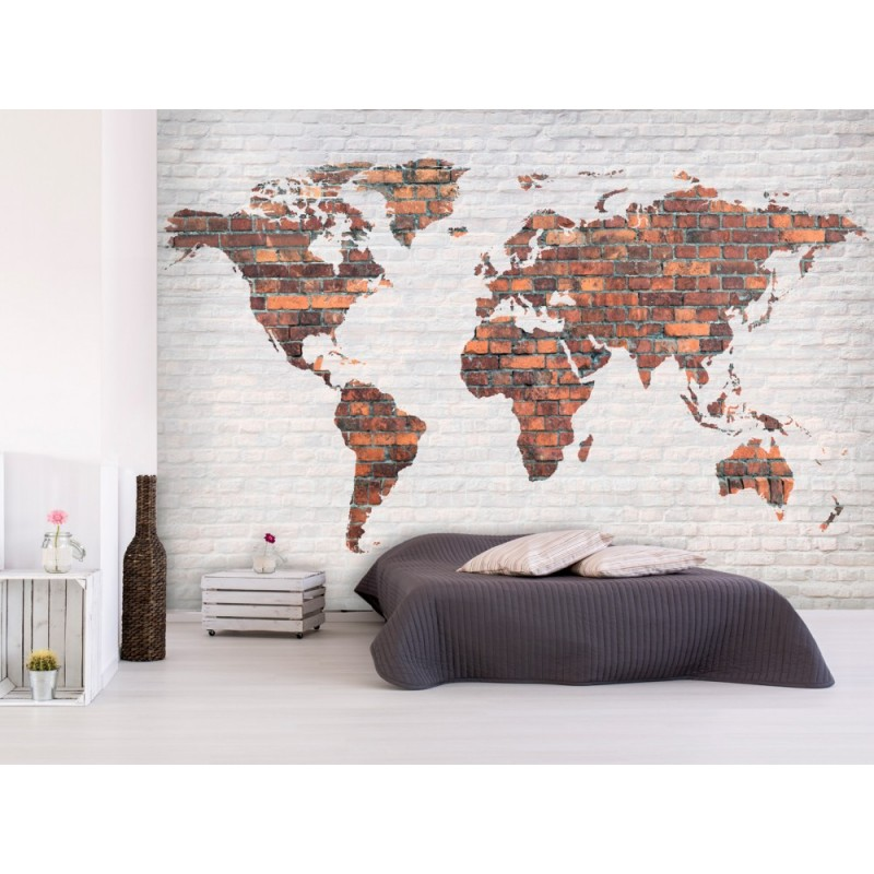 Papier Peint World MAP Mur En Brique TENDENCIO