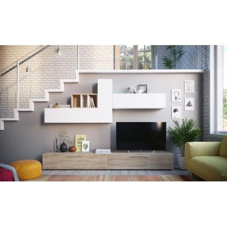 ensemble de meubles tv elio style scandinave