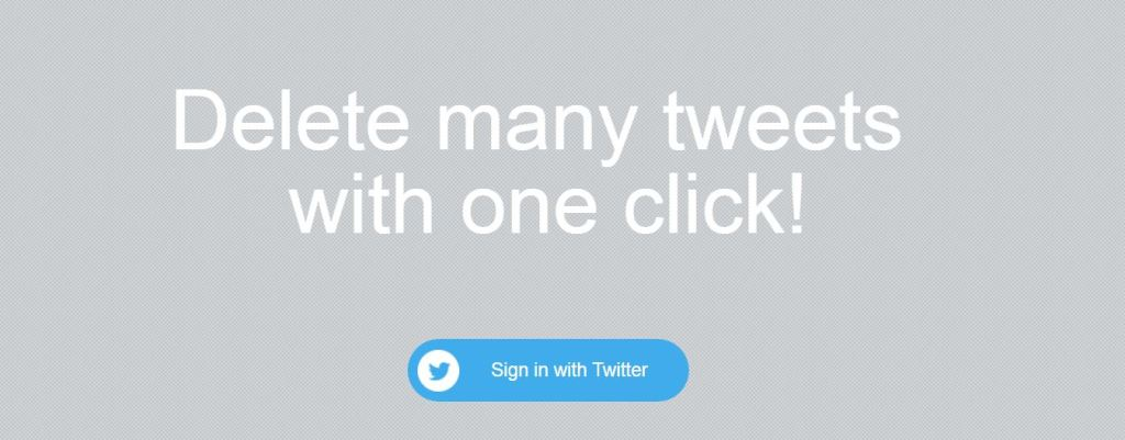 delete many tweets with one click