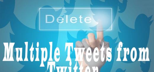 delete multiple tweets from twitter