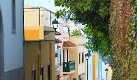 Bunte Häuser in der Stadt La Orotava auf Teneriffa