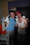 Eric Miinch and Danny Pagett backstage at Queer Acts Festival. Big In Germany 2011.