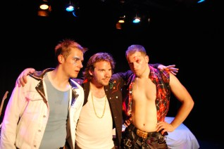 Eric Miinch, Danny Pagett, and Rob Salerno in Big In Germany, Bus Stop Theatre, 2011.