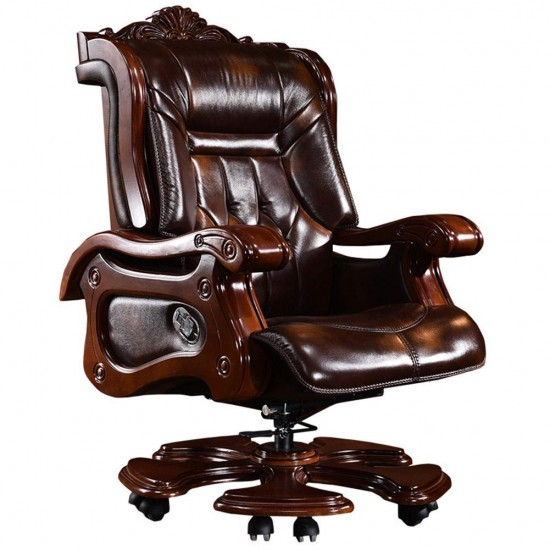 Chair Stool كرسي البراز Boss Chair Leather Computer Chair Home Executive Chair Business 145 Reclining Lifting Massage President Office Turn Chair Recliner Adjustable Seat Height 360 Degree Swivel