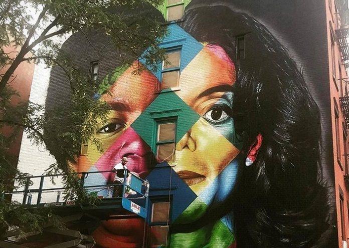 Obra de Eduardo Kobra sobre Michael Jackson