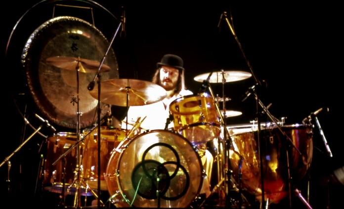 John Bonham, baterista do Led Zeppelin, em 1975