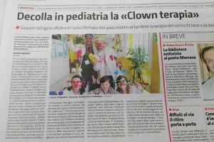 Decolla in pediatria la Clownterapia