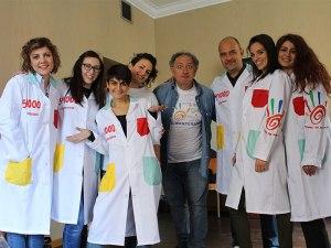 Il gruppo di volontari al corso di Clownterapia a Roma del 2016