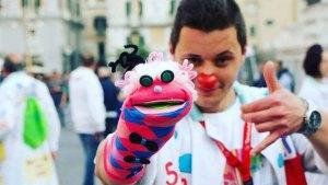 Clown Andrea con il puppets