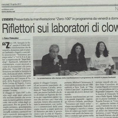 Articolo riflettori sui laboratori di clownterapia