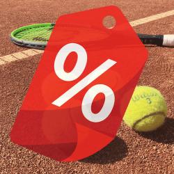 Tenisové vybavení v akci
