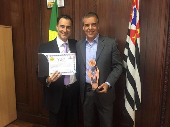 Silvio Garcia Junior - Presidente da CAAP e Luiz Fernando Balieiro - Presidente da FPT