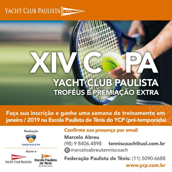 YACHT CLUB PAULISTA IRÁ OFERECER TREINAMENTO (PRÉ-TEMPORADA 2019) PARA TODOS OS INSCRITOS DA XIV COPA YCP – INFANTOJUVENIL