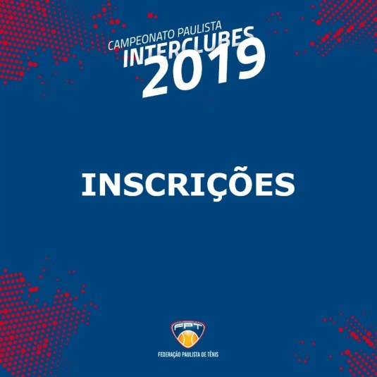 INSCRIÇÕES INTERCLUBES 2019 – CATEGORIAS 4F2D, PF1D, 4M2D, 5M1D, EFD