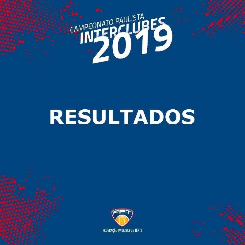 RESULTADOS INTERCLUBES 2019 – 16M E 60F