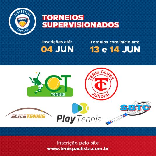TORNEIOS SUPERVISIONADOS – INSCRIÇÕES ATÉ 04.06