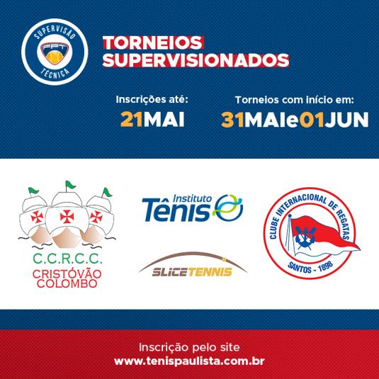 TORNEIOS SUPERVISIONADOS – INSCRIÇÕES ATÉ 21.05
