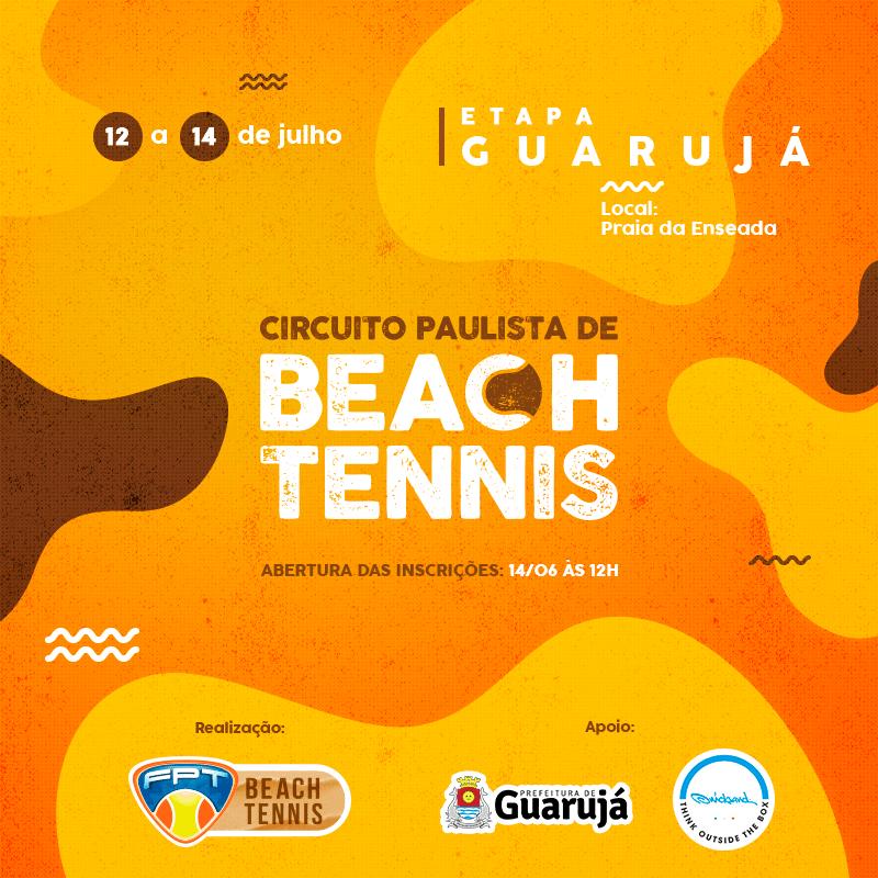 CIRCUITO PAULISTA DE BEACH TENNIS – ETAPA GUARUJÁ