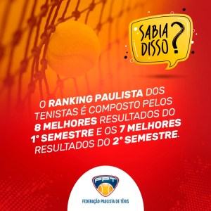SABIA DISSO? RANKING PAULISTA DOS TENISTAS