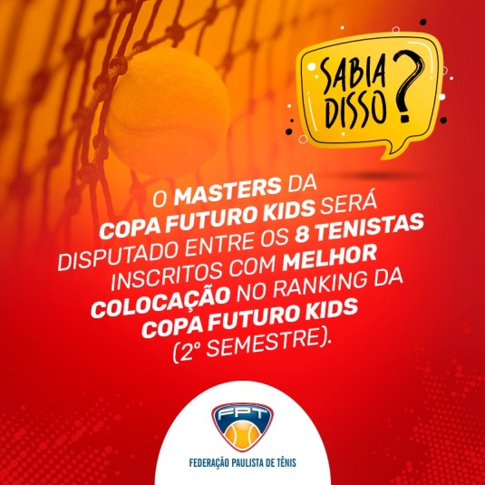 SABIA DISSO? MASTERS DA COPA FUTURO KIDS
