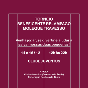 TORNEIO BENEFICENTE RELÂMPAGO MOLEQUE TRAVESSO
