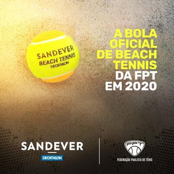 SANDEVER É A BOLA OFICIAL DA FPT DE BEACH TENNIS