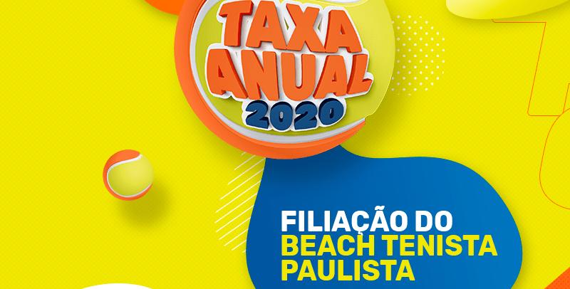 TAXA ANUAL DE BEACH TENNIS 2020