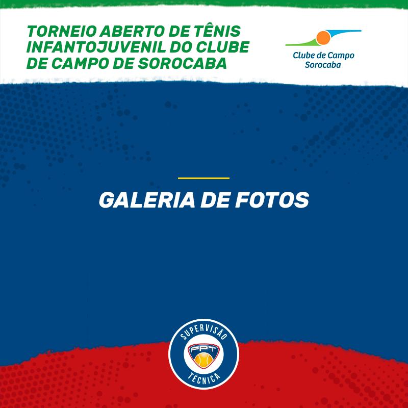 GALERIA DE FOTOS – TORNEIO ABERTO DE TÊNIS INFANTOJUVENIL DO CLUBE DE CAMPO DE SOROCABA