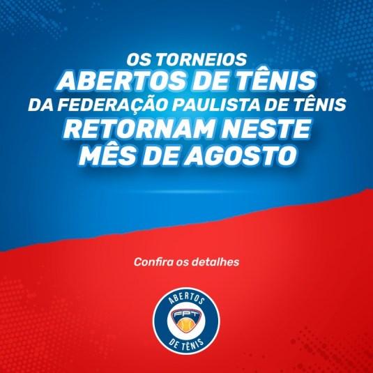 RETORNO DOS TORNEIOS ABERTOS DE TÊNIS