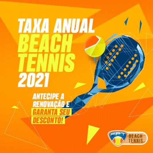 TAXA ANUAL BEACH TENNIS – 2021