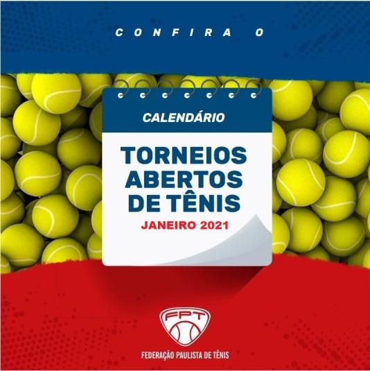 CALENDÁRIO DE TORNEIOS ABERTOS DE TÊNIS – JANEIRO