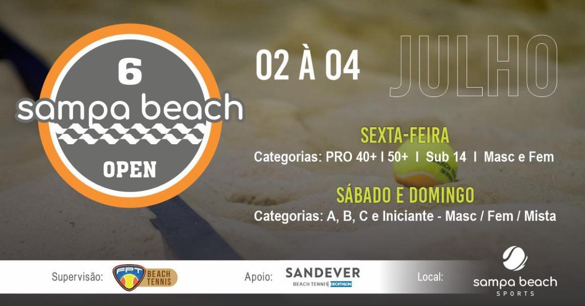 6° SAMPA BEACH OPEN – RELAÇÃO DE INSCRITOS E PROGRAMAÇÃO
