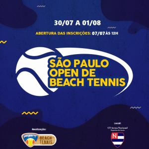 SÃO PAULO OPEN DE BEACH TENNIS – RELAÇÃO DE INSCRITOS, PROGRAMAÇÃO  E SORTEIO DE GRUPOS
