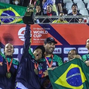 Com paulista no time, Brasil é tetracampeão da Copa do Mundo de Beach Tennis