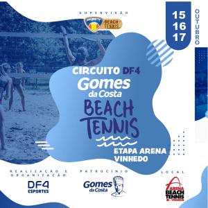 CIRCUITO DF4 – GOMES DA COSTA DE BEACH TENNIS – ETAPA ARENA VINHEDO