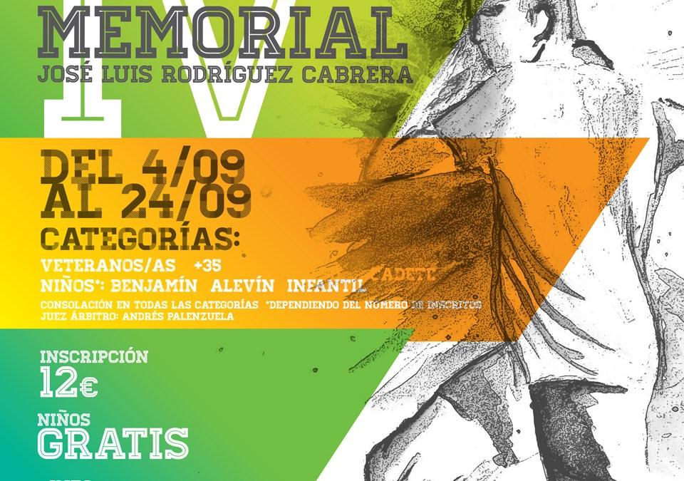 IV MEMORIAL JOSE LUIS RGUEZ CABRERA