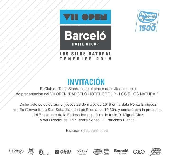 Presentación Open Barceló Hotel Group Los Silos Natural 2019