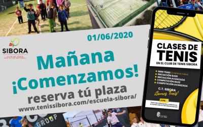 Mañana comienzan las Clases de Tenis por el CT Sibora