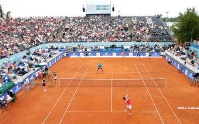 Exhibición en el Adria Tour con Djokovic en cancha