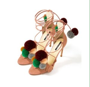 DIY pompom sandal