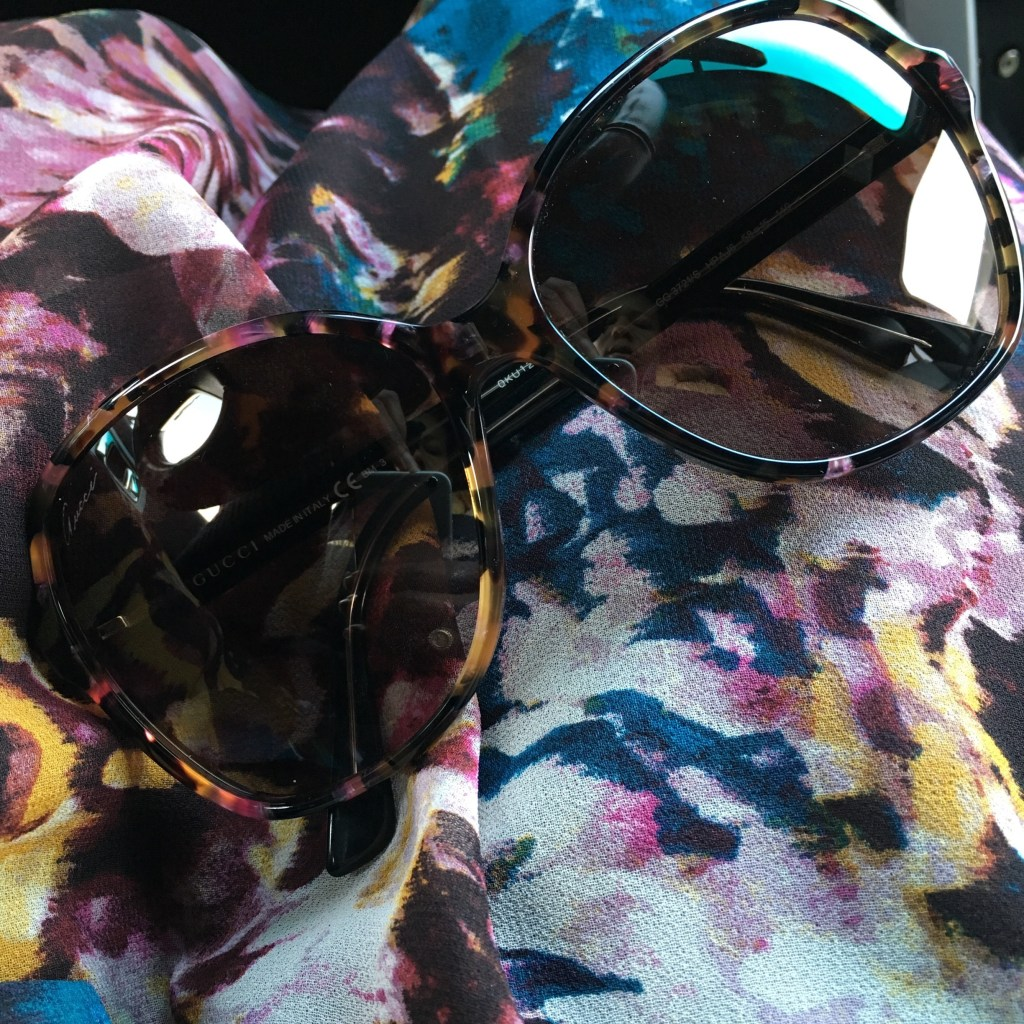 Fall floral with Gucci sunglasses