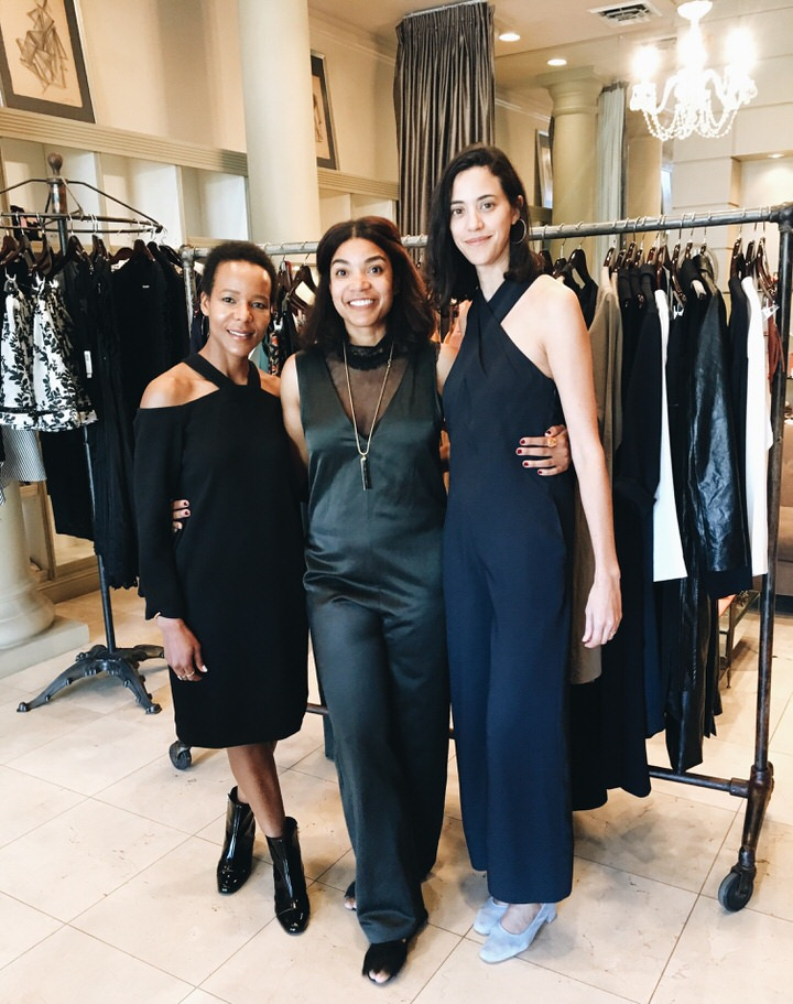 Kairee Tann with With Sherri McMullen and Yara Flinn of Nomia trestle dress