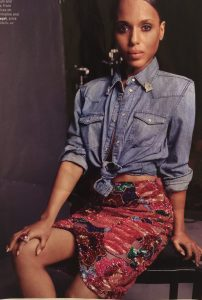 Kerry Washington denim shirt