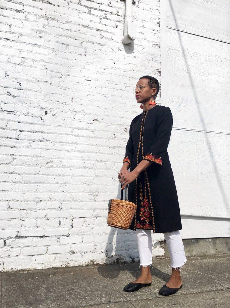 vintage tunic fall transitional wardrobe