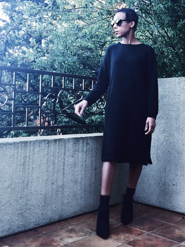 Grana cashmere knit dress